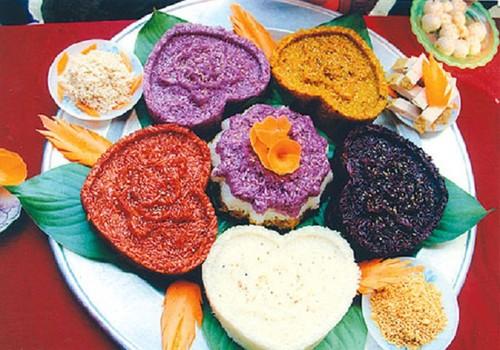 Món xôi bảy màu du lịch Sapa